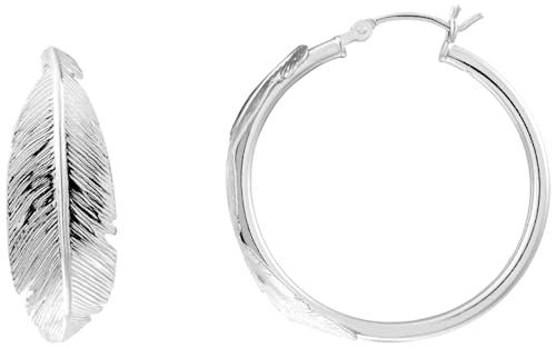 Ces Boucles d'oreilles CLEOR sont en Argent 925/1000 Blanc et en forme de Feuille