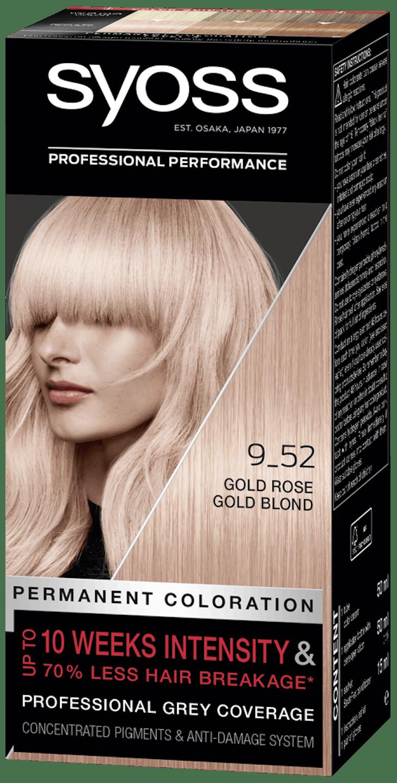 Syoss дълготрайна боя за коса Светло розово златно рус 9_52 pack shot