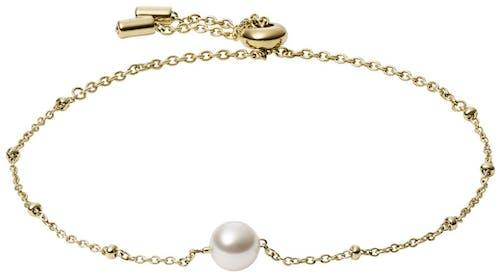 Ce Bracelet FOSSIL est en Acier Doré et Verre