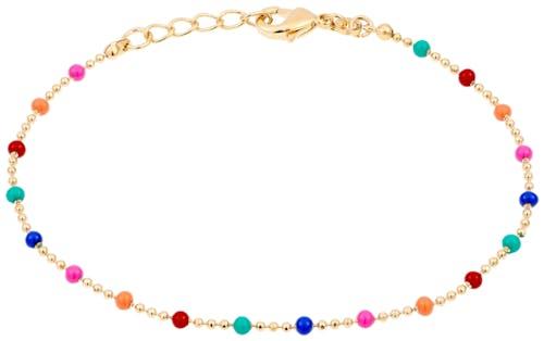 Ce Bracelet CLEOR est en Plaqué Or Jaune et Email Multicolore