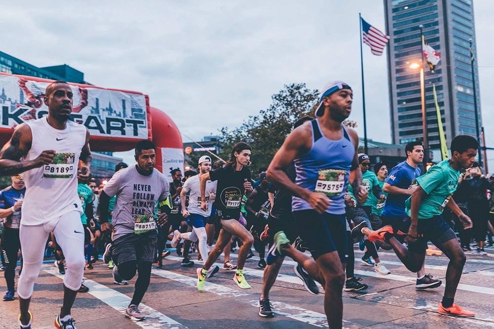 Yannik Reihs startet beim 5km Lauf in Baltimore