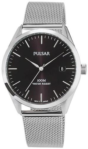 Cette montre PULSAR se compose d'un Boîtier Rond de 34 mm et d'un bracelet en Acier Gris