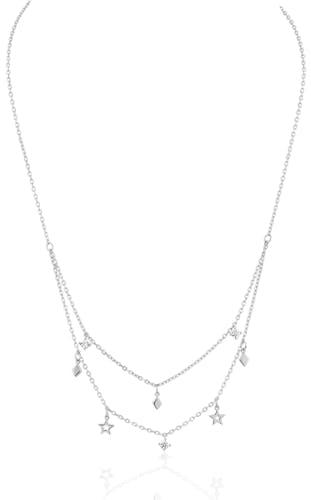 Collier CLEOR en Argent 925/1000 Blanc et Oxyde