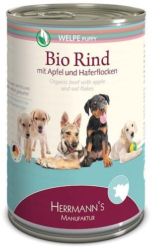 Herrmann's Nassfutter Welpe Bio-Rind