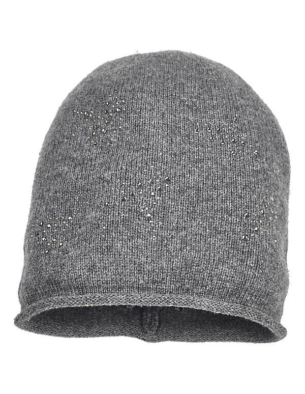 Mütze mit Schmucksteinen