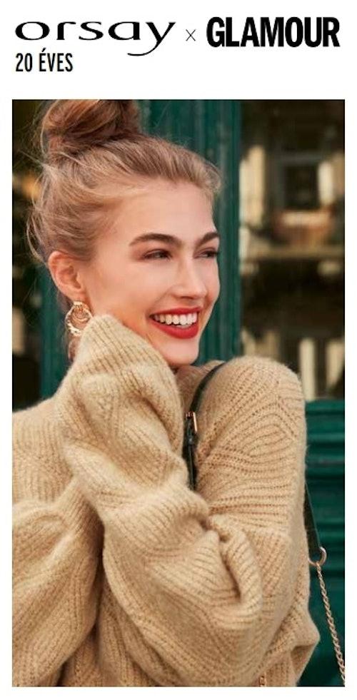 Díszes szövésű pulóver ORSAY