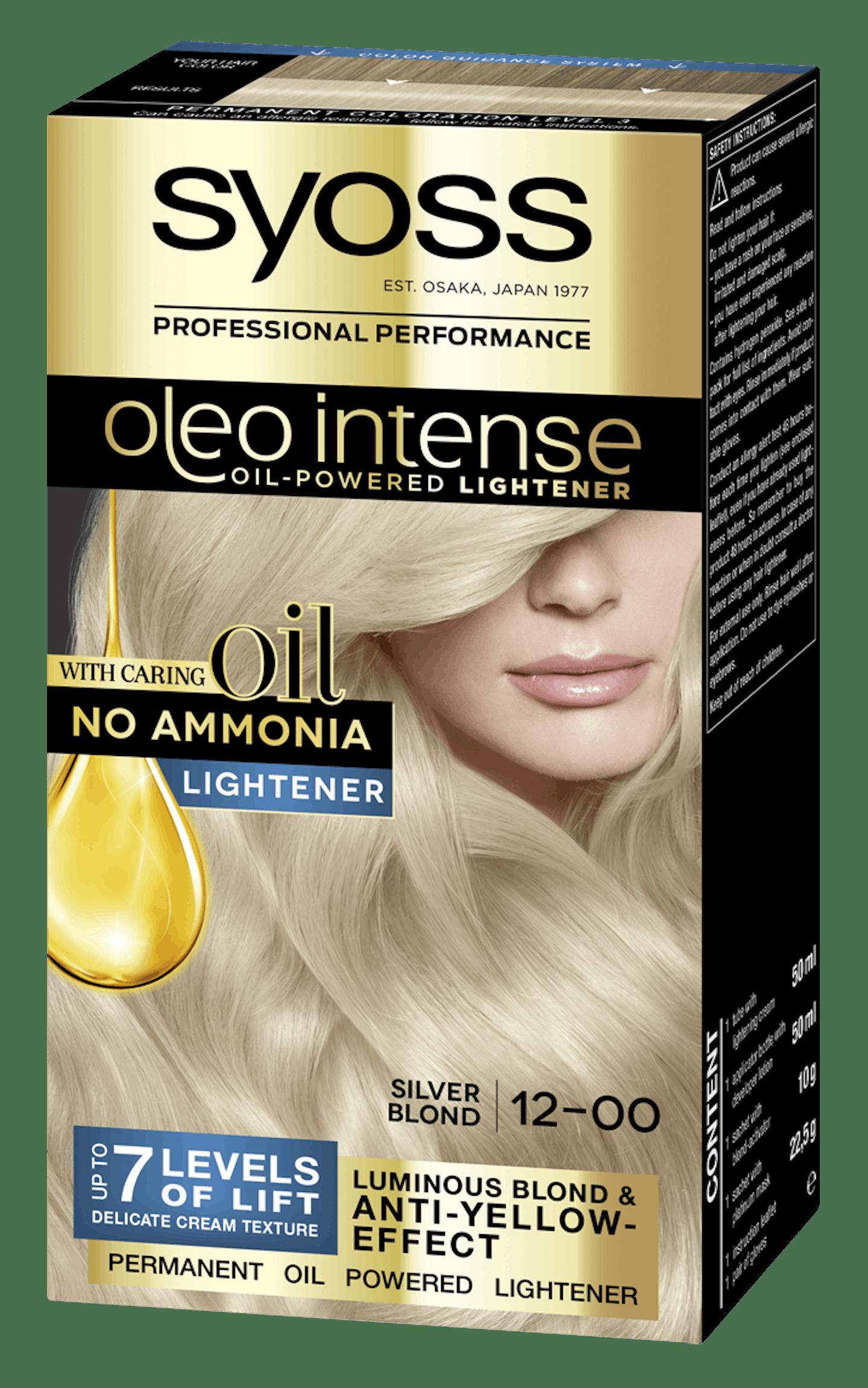 Posvetljevalec z oljem Syoss Oleo Intense Srebrno blond 12-00