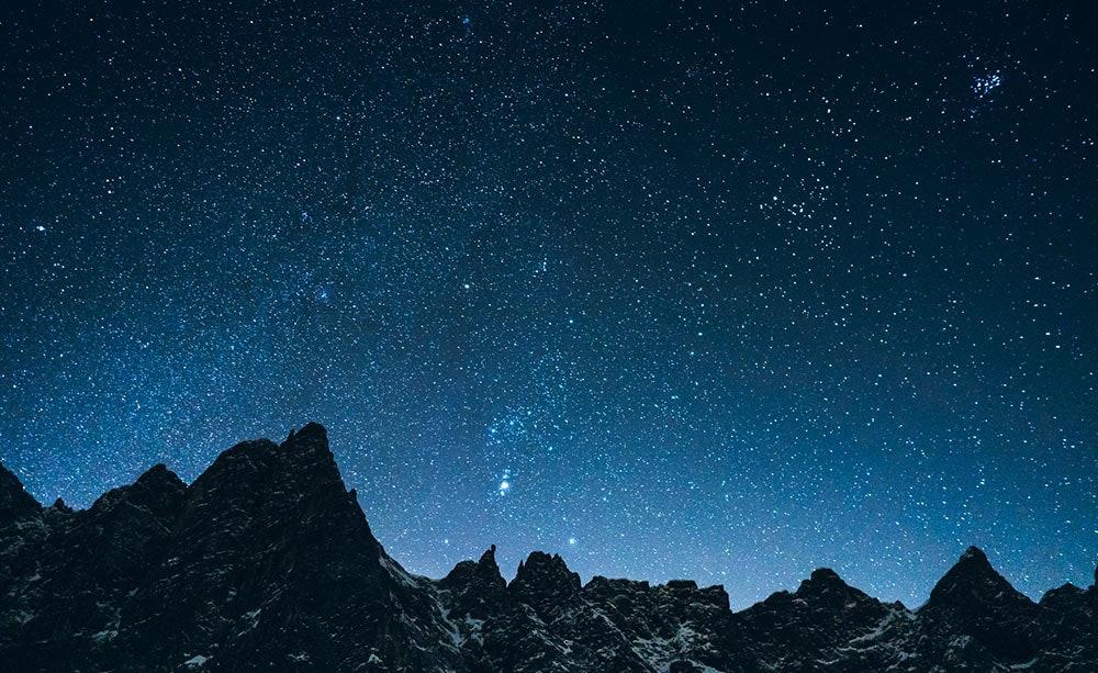 Sternenhimmel beim Biwak