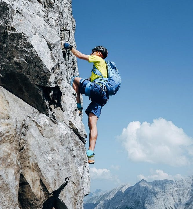 Klettersteig in den Bergen