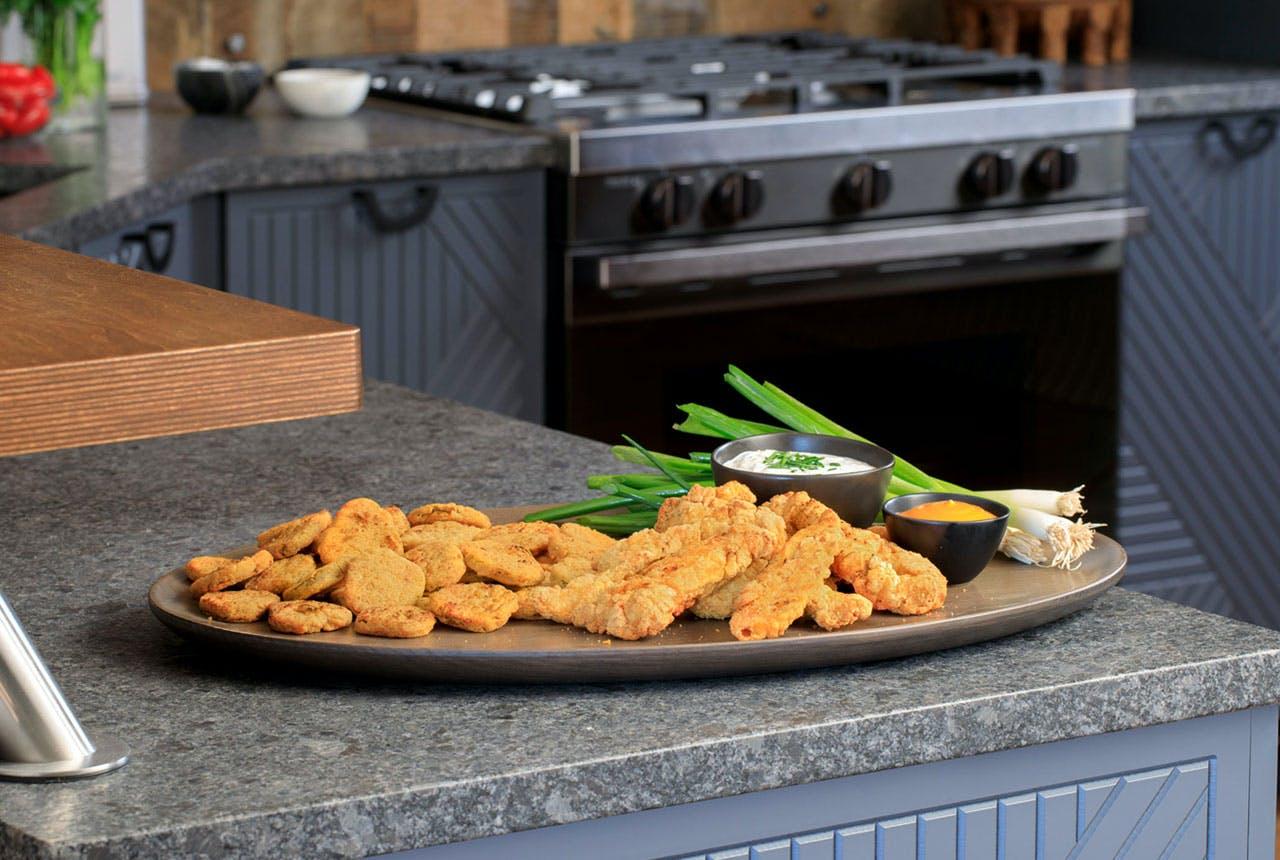 Platter of Air Fried Chicken Tenders
