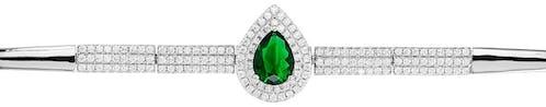 En savoir + Bracelet CLEOR Argent 925/1000 Oxyde Vert et Blanc