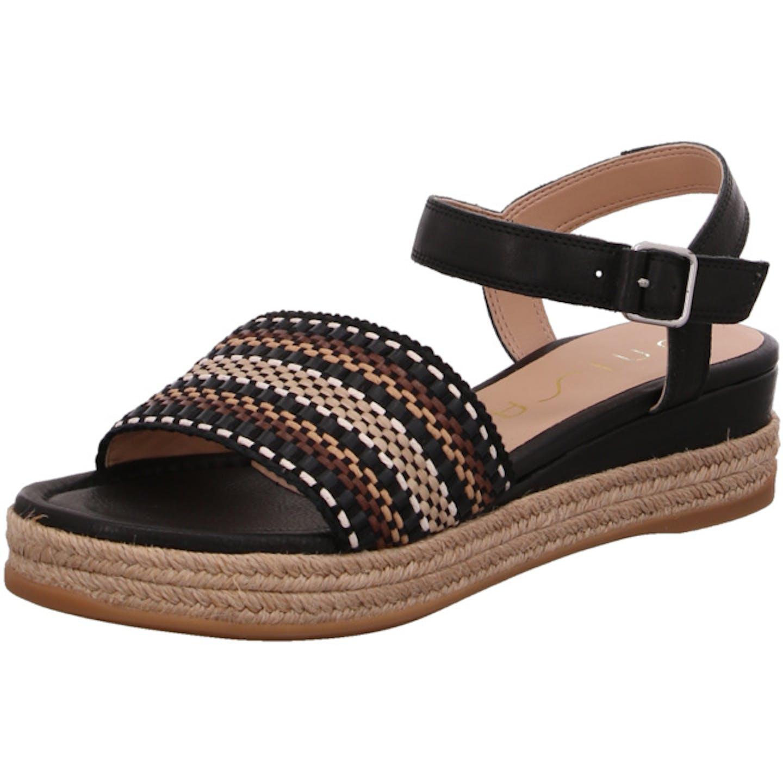 Unisa Espadrilles Sandalen für Damen, schwarz