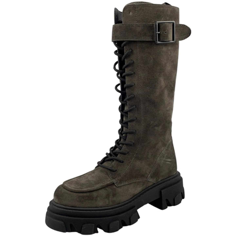 Alpe Woman Shoes 2078 11 34 Schnürstiefel für Damen, grau