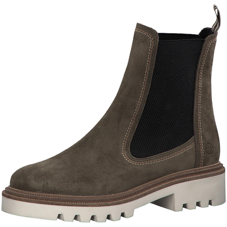 Tamaris Chelsea Boots für Damen, oliv