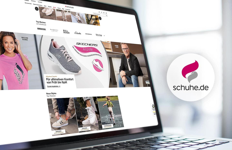 Skechers Werbespot verweist auf schuhe.de