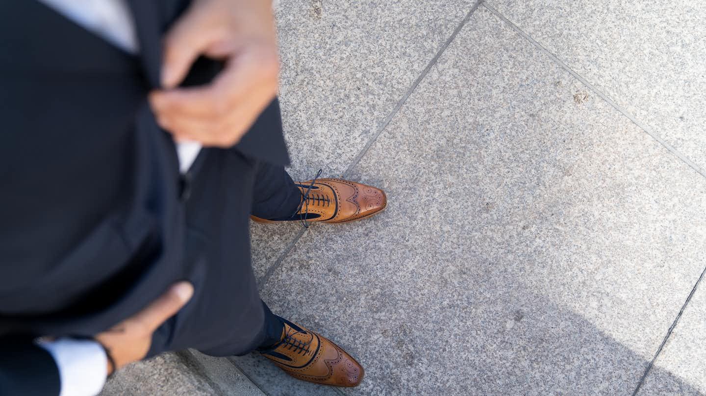 Braune Business Schuhen