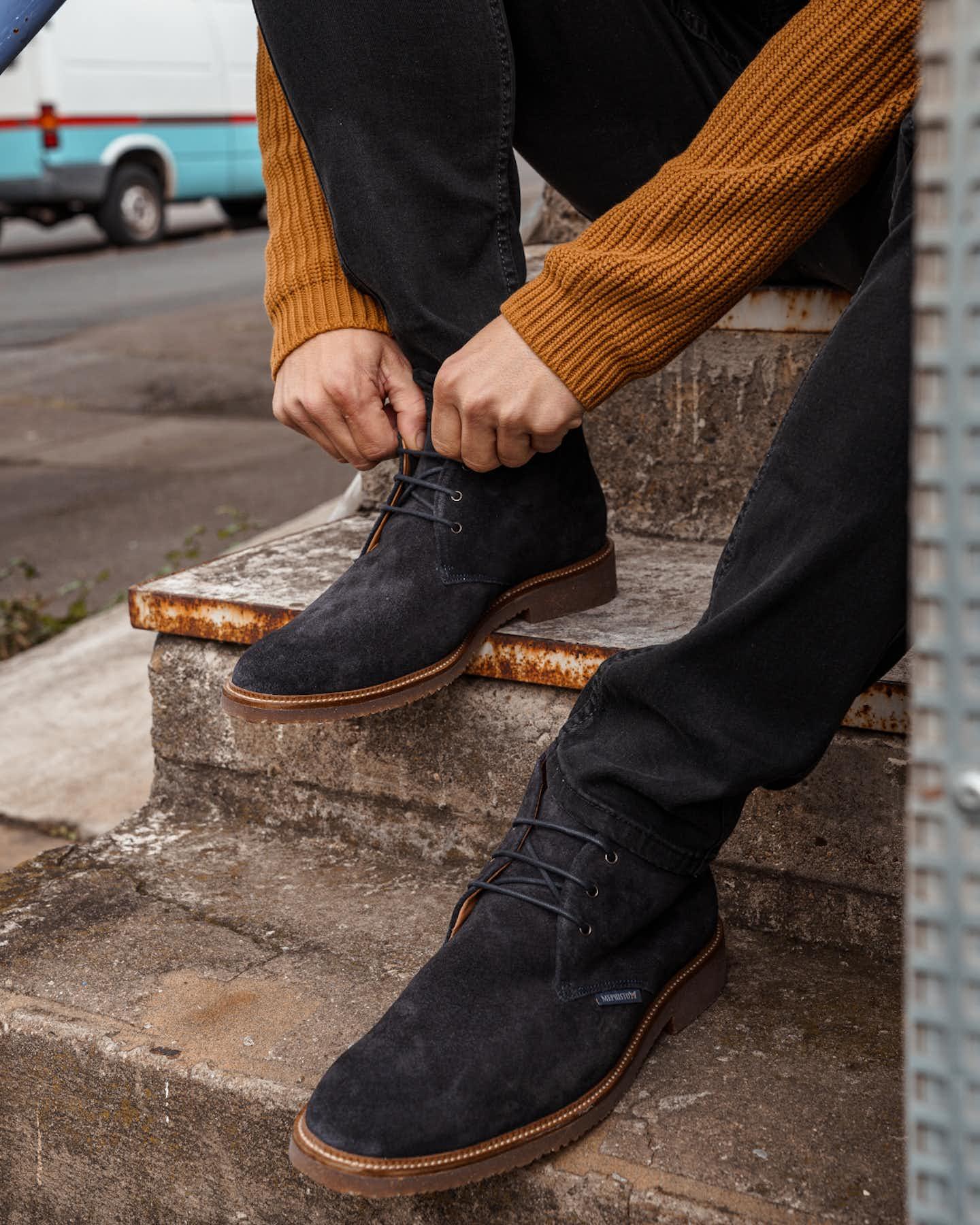 Business Schuhe blau