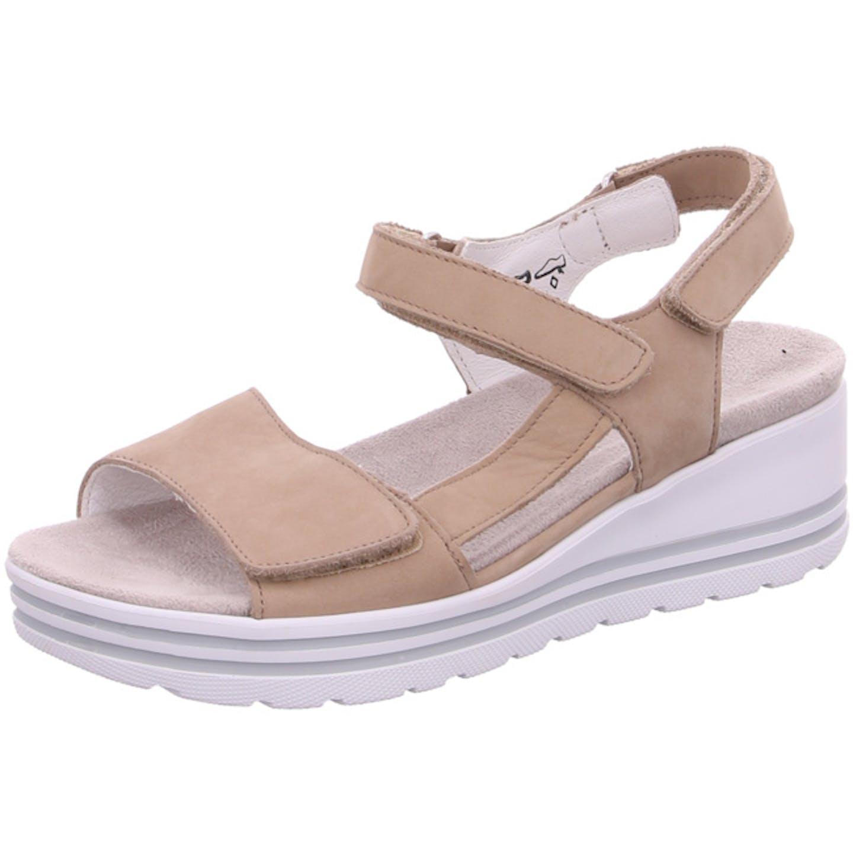Waldläufer Bequeme Sandalen für Damen, beige