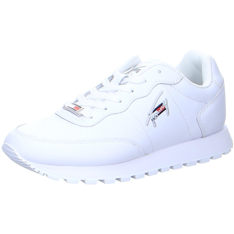 Tommy Hilfiger Tommy Jeans Leather Runner Sneaker für Damen, weiß
