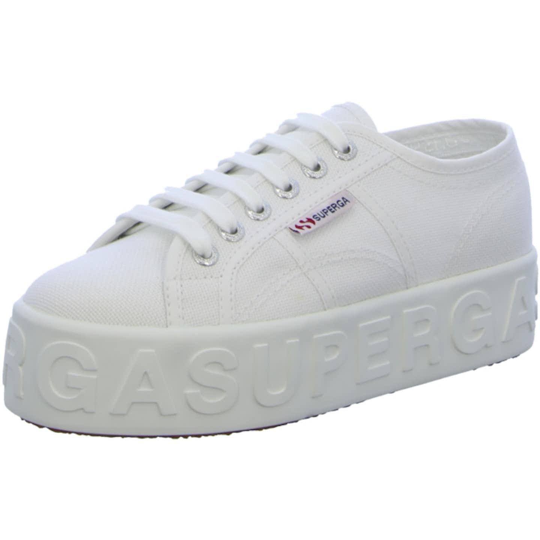 Superga Plateau Sneaker für Damen, weiß