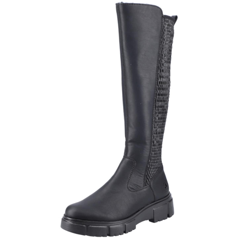Rieker Plateau Stiefel für Damen, schwarz