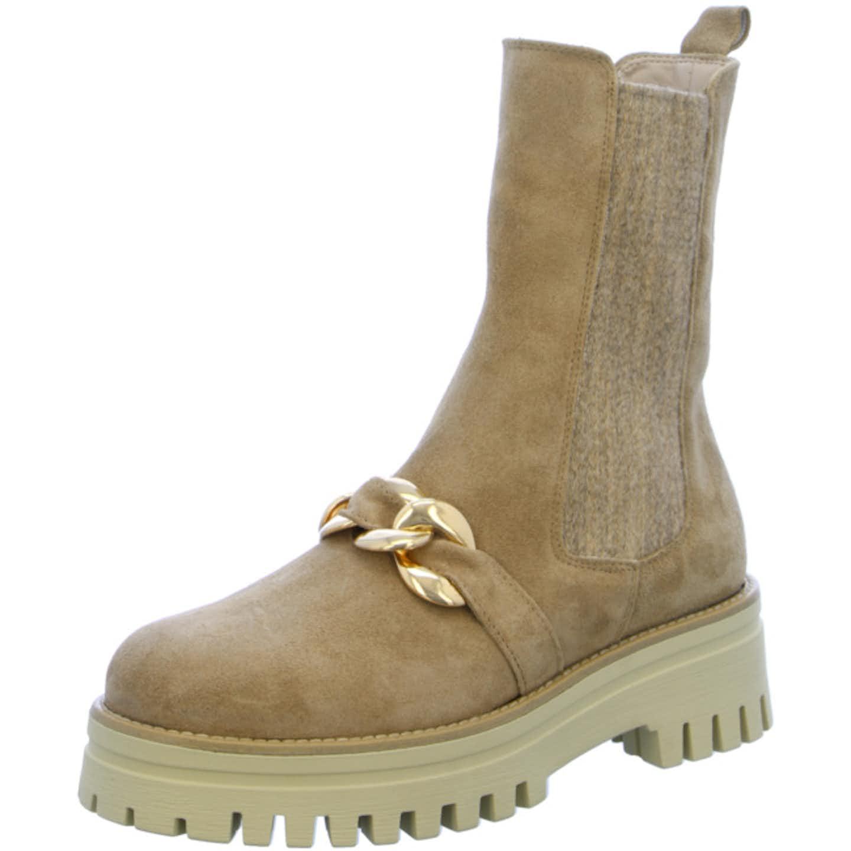 Gianluca Pisati Chelsea Boots für Damen, beige