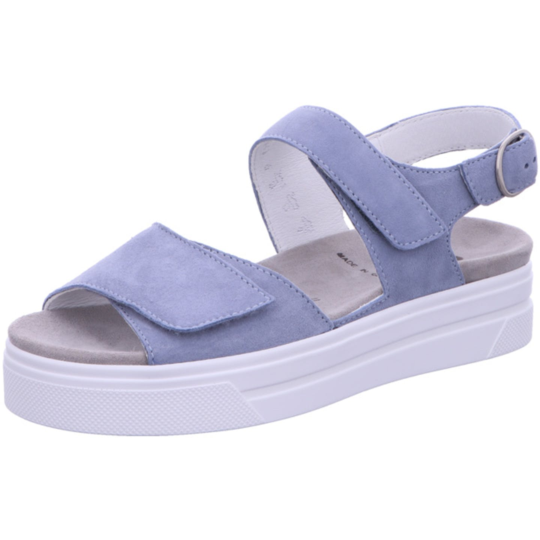 Semler Plateau Sandaletten für Damen, blau