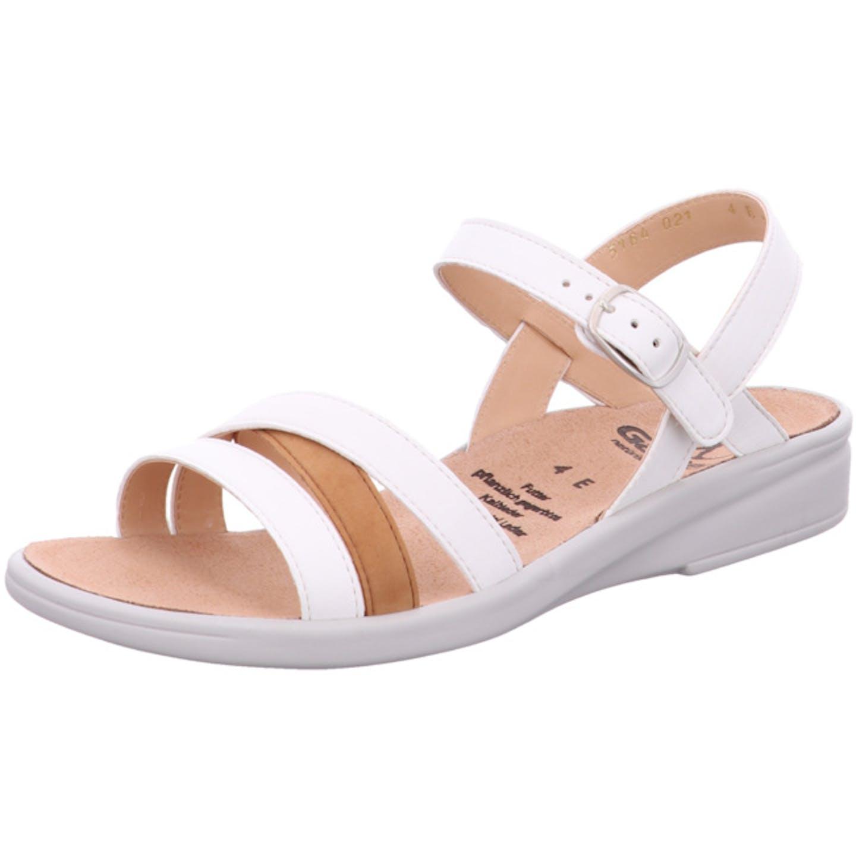 Ganter Bequeme Sandalen für Damen, weiß
