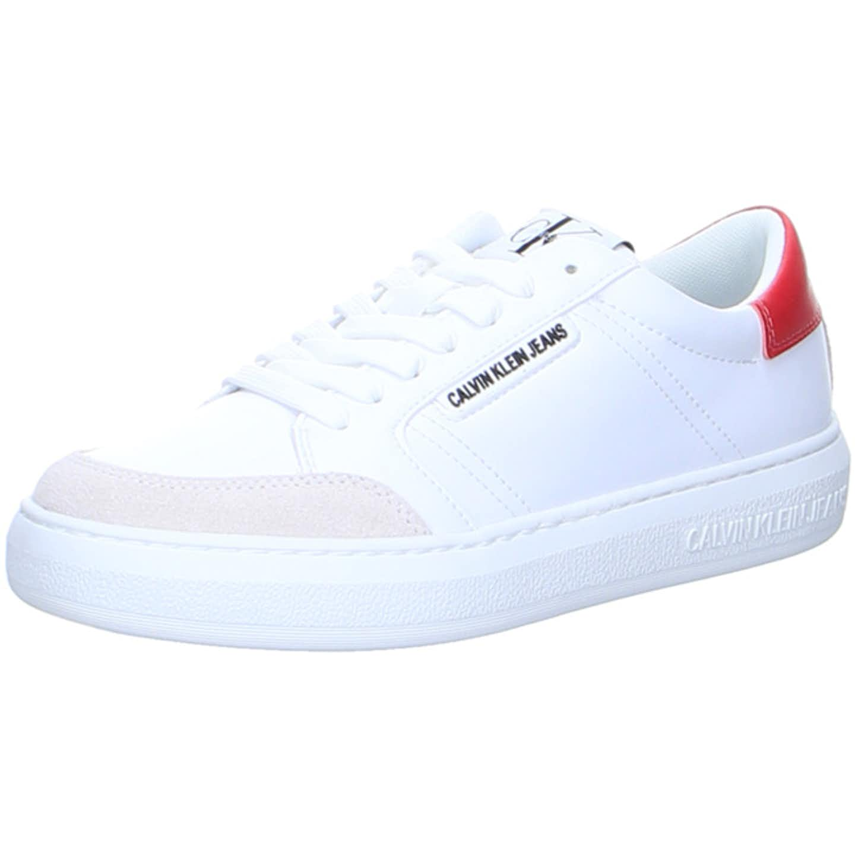 Calvin Klein Cupsole Sneaker Lace Up PU-NY Top Trends Sneaker für Damen, weiß