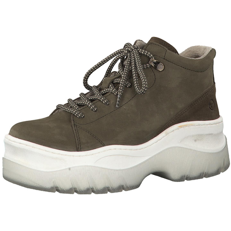 Tamaris Chunky Plateau Sneaker für Damen, oliv