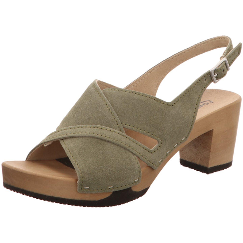 Softclox Plateau Sandaletten für Damen, grün