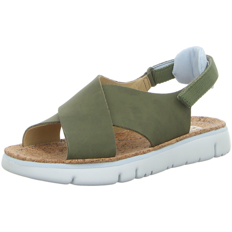 Camper Oruga Sandal Bequeme Sandalen für Damen, grün