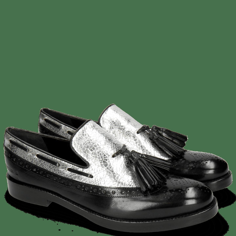 Amelie 60 Black Cromia Silver Tassel