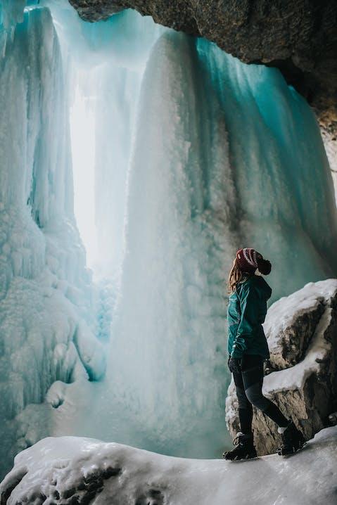 Eiswanderung durch Canyons in Kanada