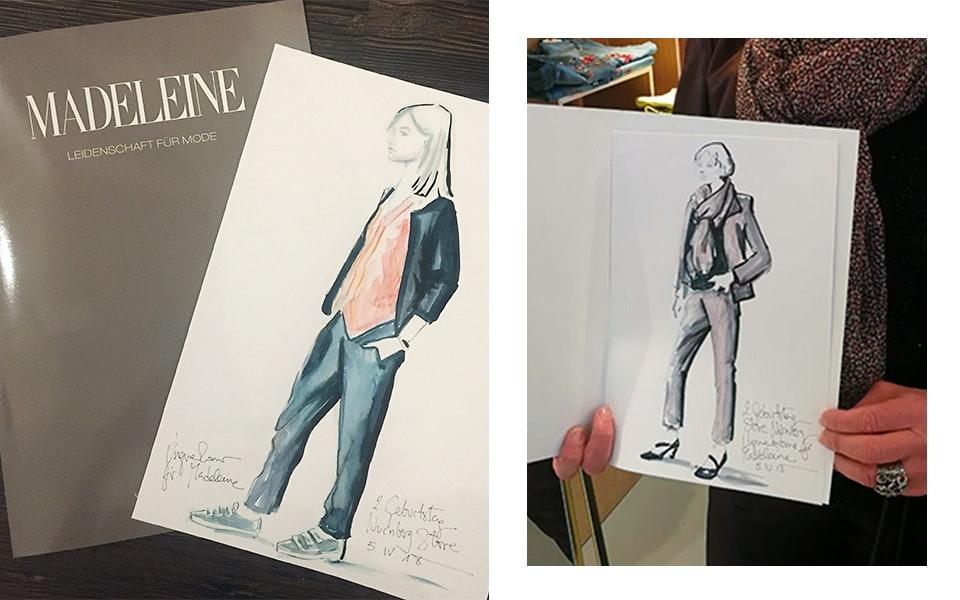 Einzigartige Fashion Skizzen der Illustratorin Virginia Romo.