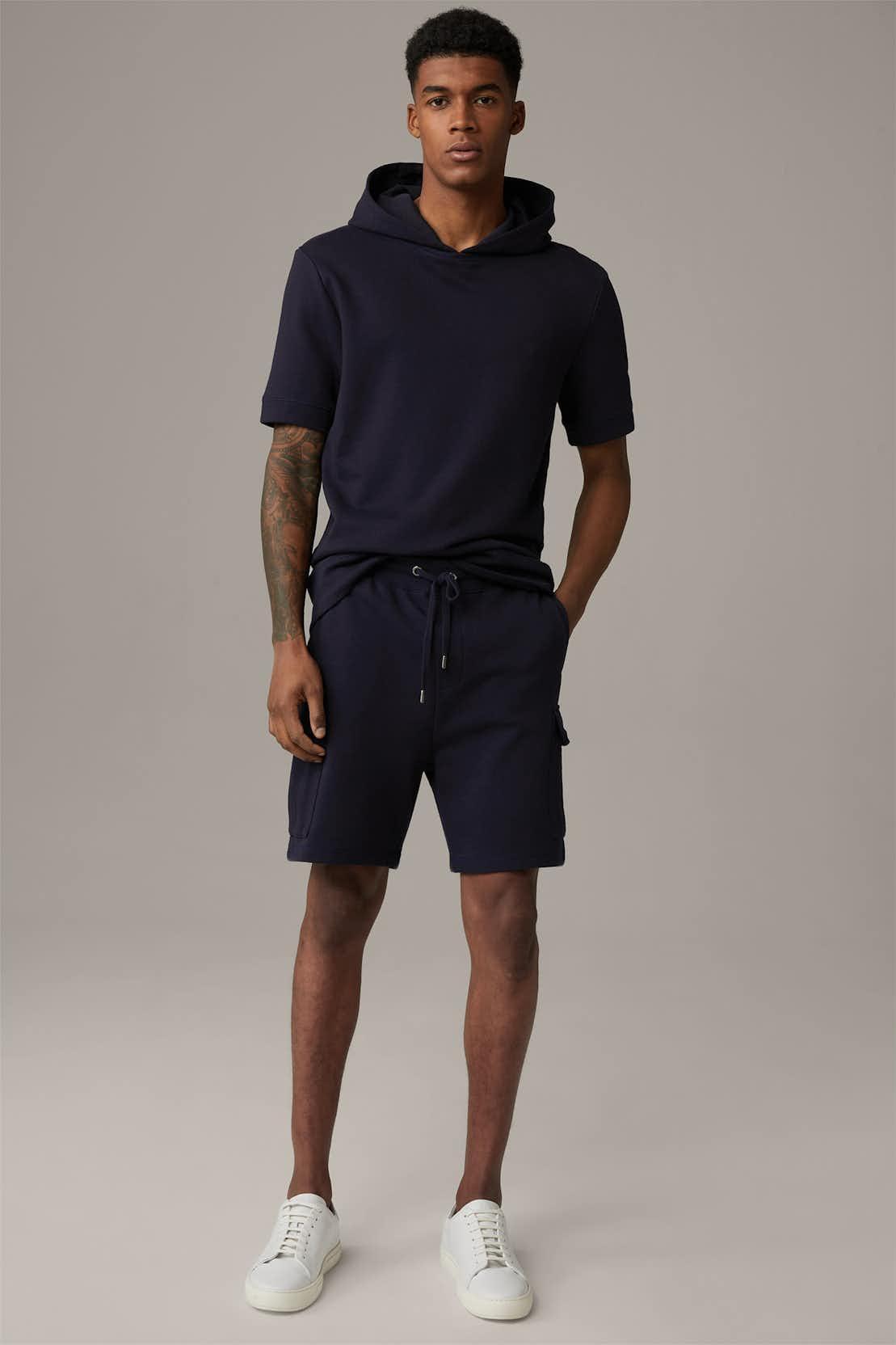 Sweatshort Kian, donkerblauw