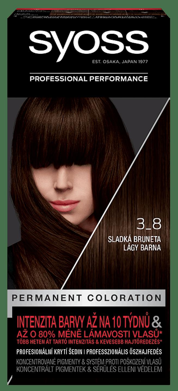 Syoss permanentní barva Sladká bruneta 3_8 shot pack