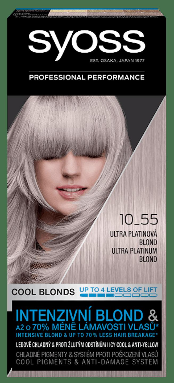 Syoss permanentní barva Ultra platinová blond 10_55 shot pack