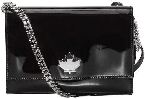 Tasche, Umhängetasche, Dsquared2, Lodenfrey, schwarz, silber