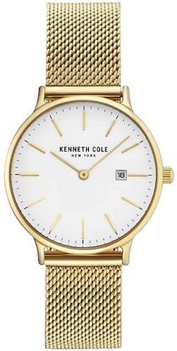 Cette montre KENNETH COLE se compose d'un Boîtier Rond de 33 mm et d'un bracelet en Acier Jaune