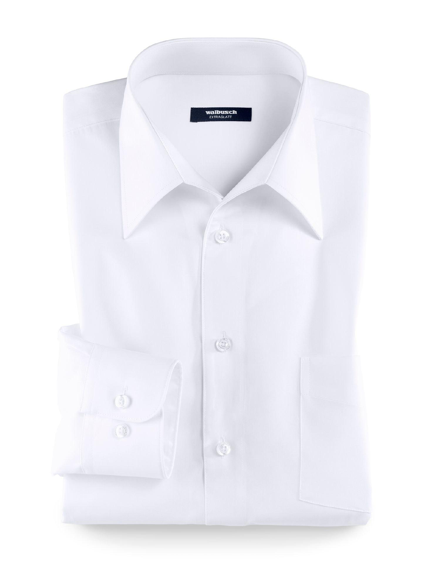 Weißes Hemd mit Walbusch-Kragen und Manschettenknöpfen