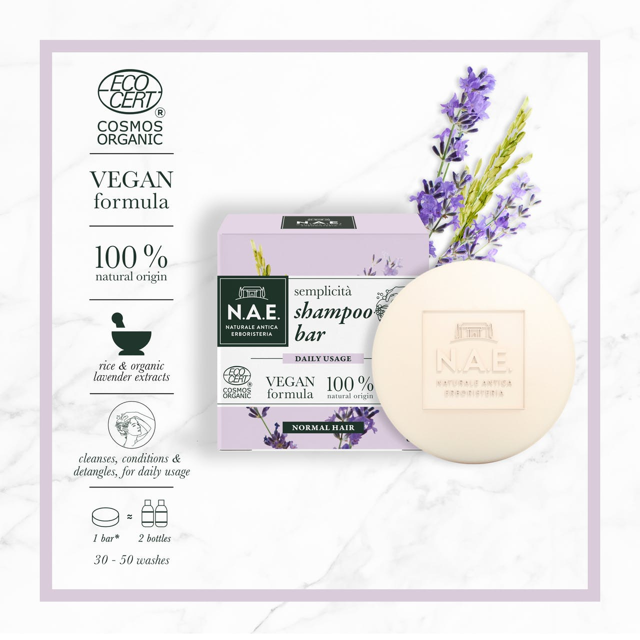 Daily Usage Shampoo Bar, 85gr