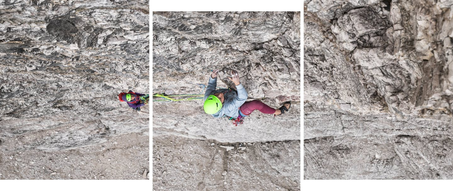 collage di foto di arrampicatori