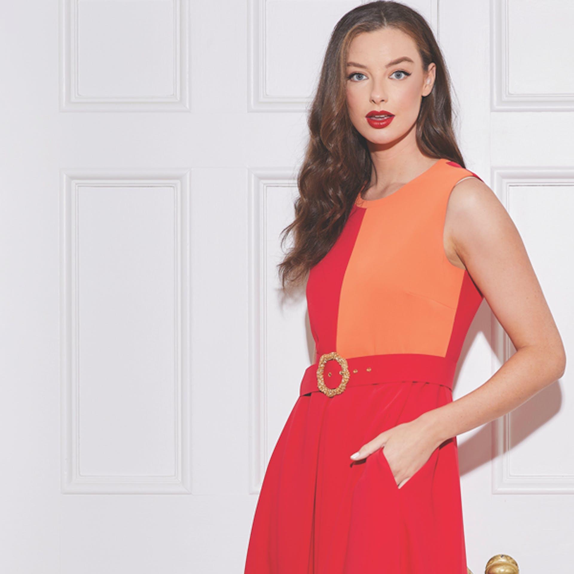 Caroline Kilkenny Block Dress