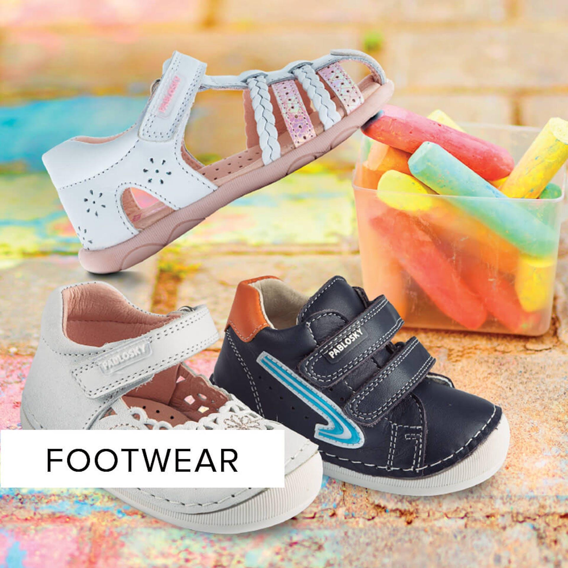 kids footwear boys, girls, baby