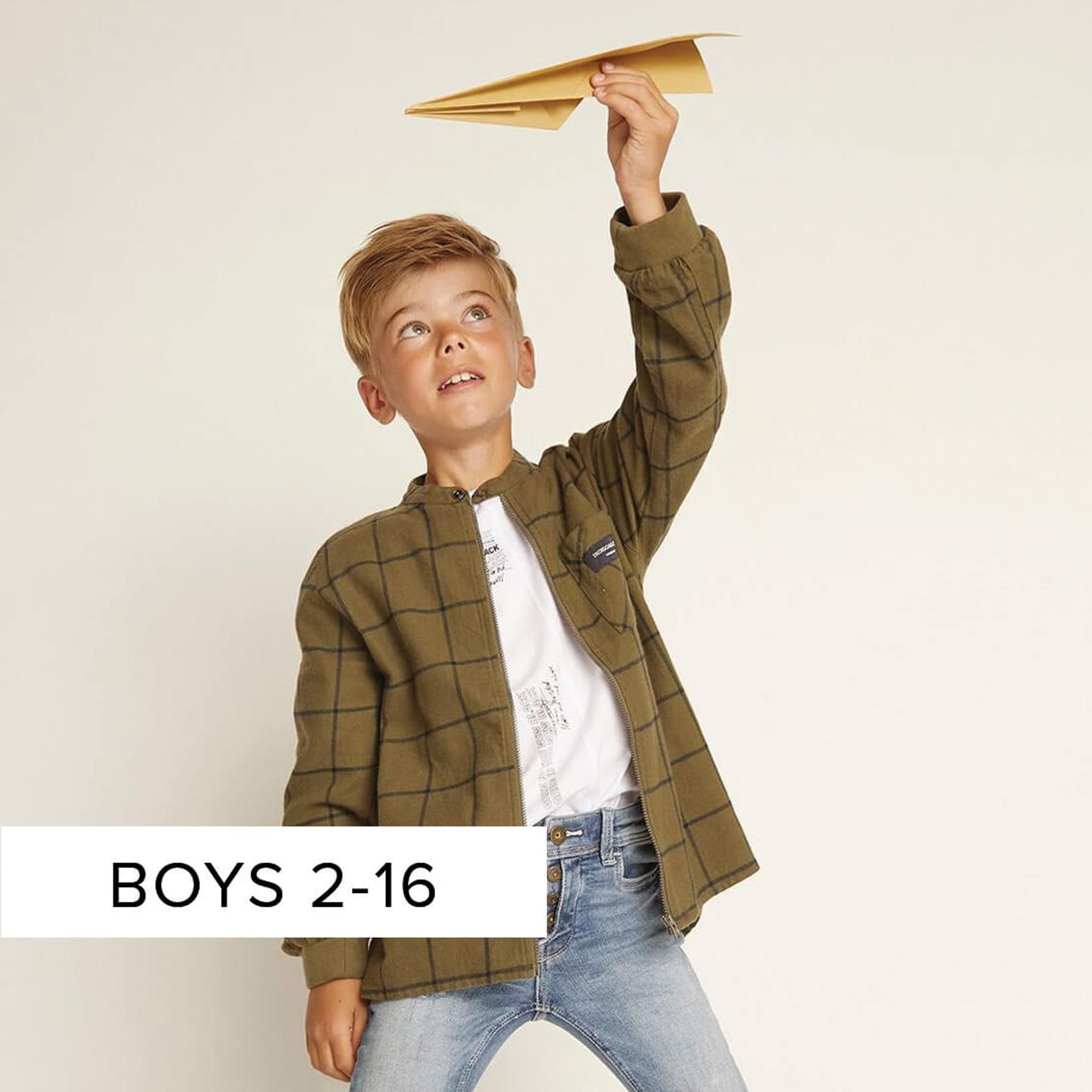 boys clothing from ages 2 to 16 years of age