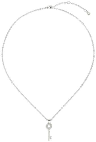 Ce Collier ADORE est en Métal et Cristal Blanc