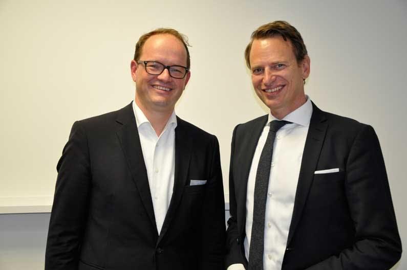 jan Bobe, Regional Director Central Europe Hästens und Robert Waloßek, Geschäftsführer BETTENRID.