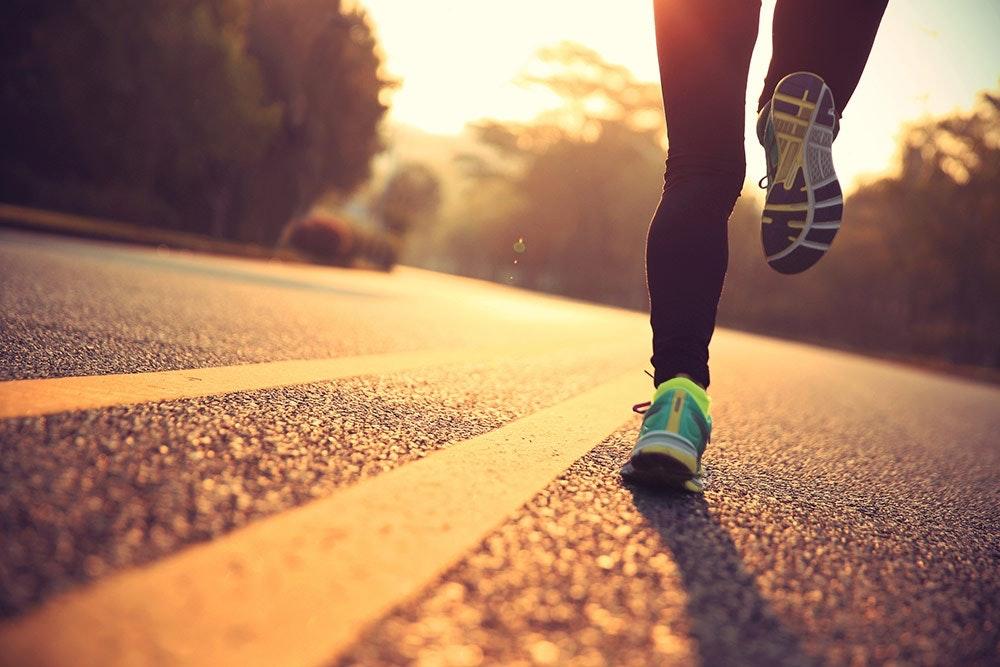 Jogger am Morgen oder Abend